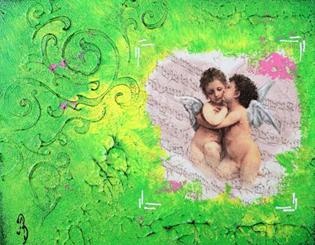 Grønt kollasje bilde