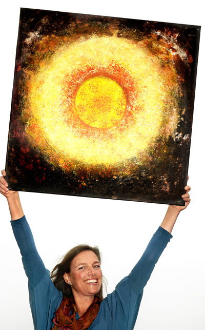 Anita med solbilde