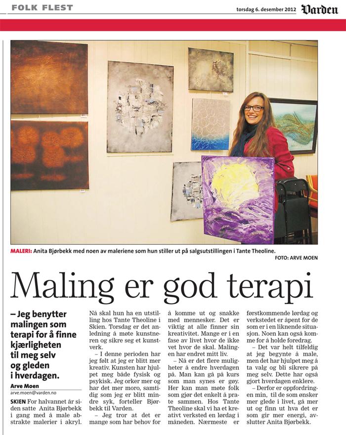 Artikkel i Varden 6. desember 2012